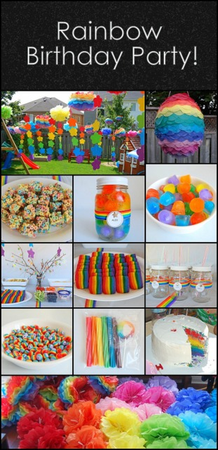 Rainbow Birthday Party by northstory.ca
