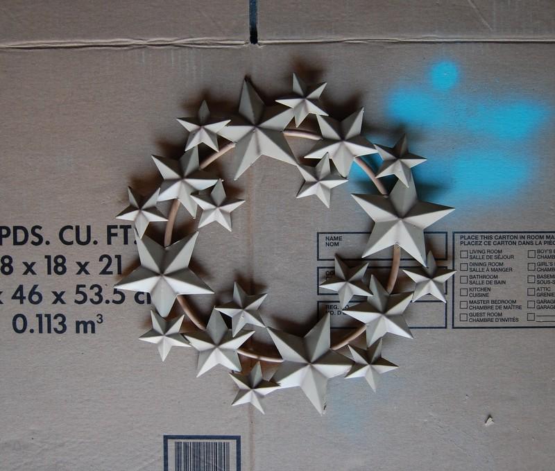 star wreath before