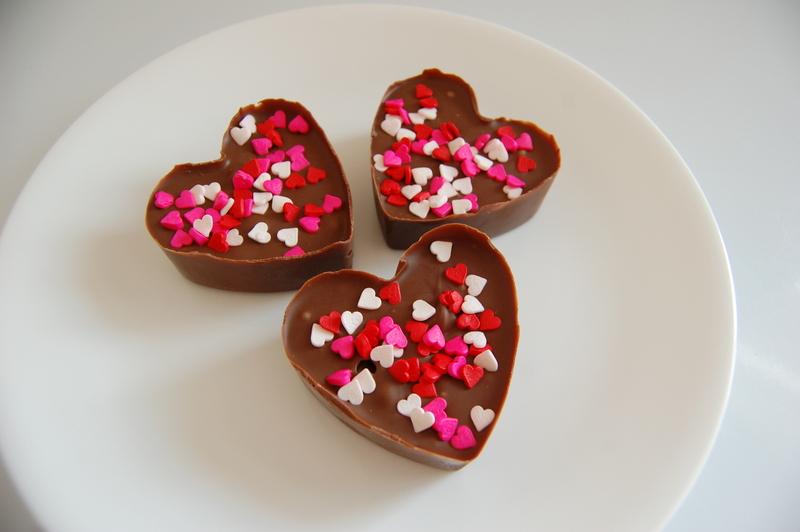 DIY valentines chocolate