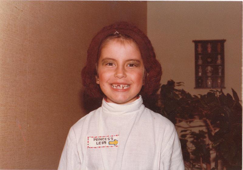 Princess Leia costume retro