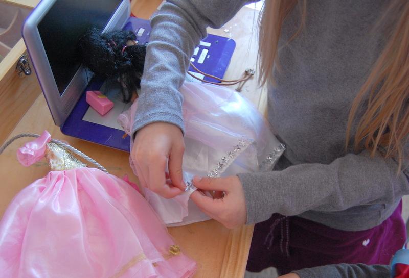 badazzling a barbie dress