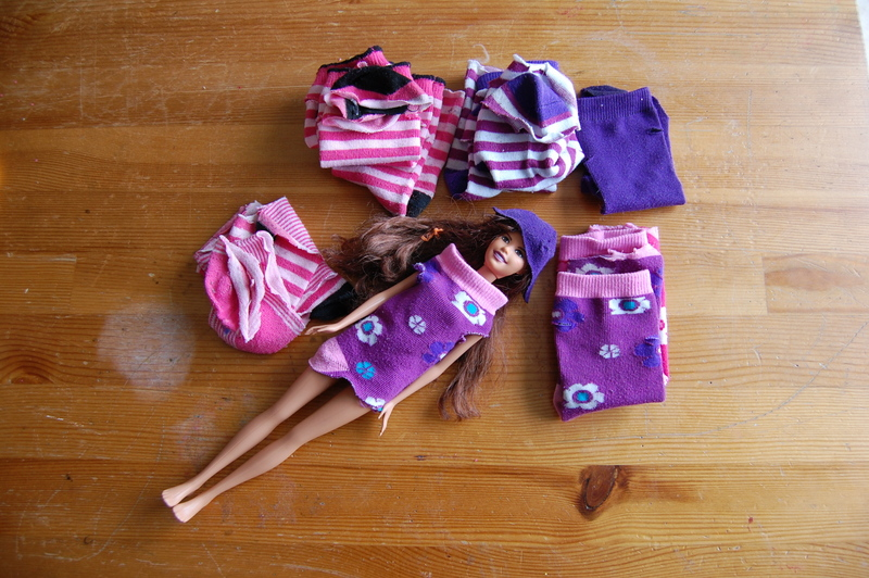 doll clothes from old socks