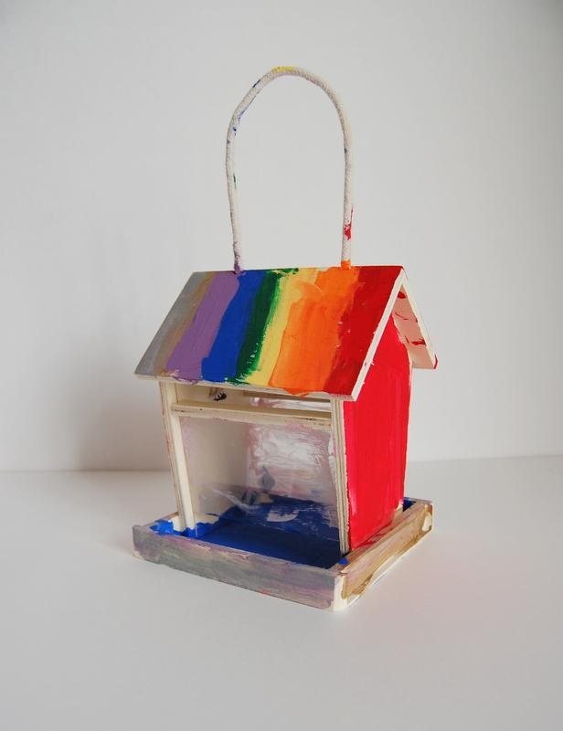 kids craft birdhouse