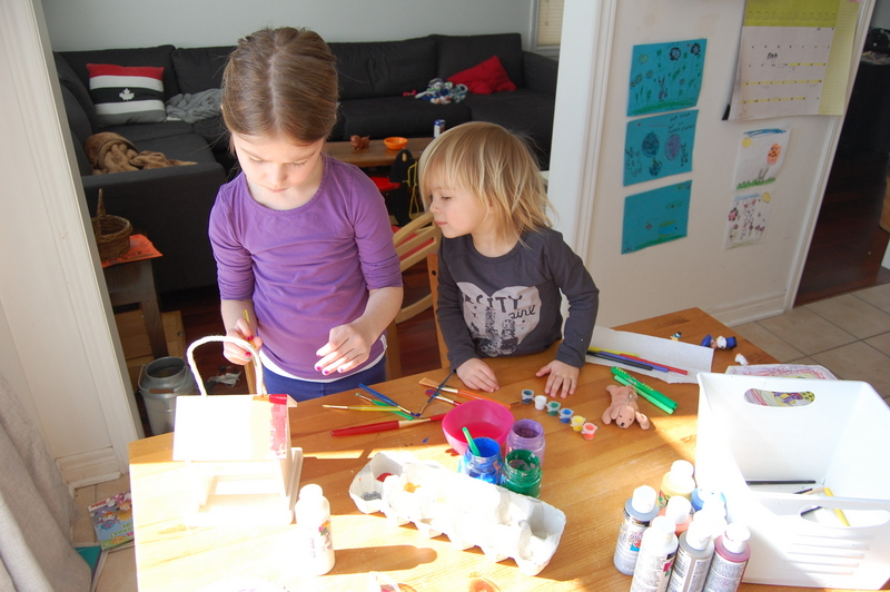 my kids doing crafts