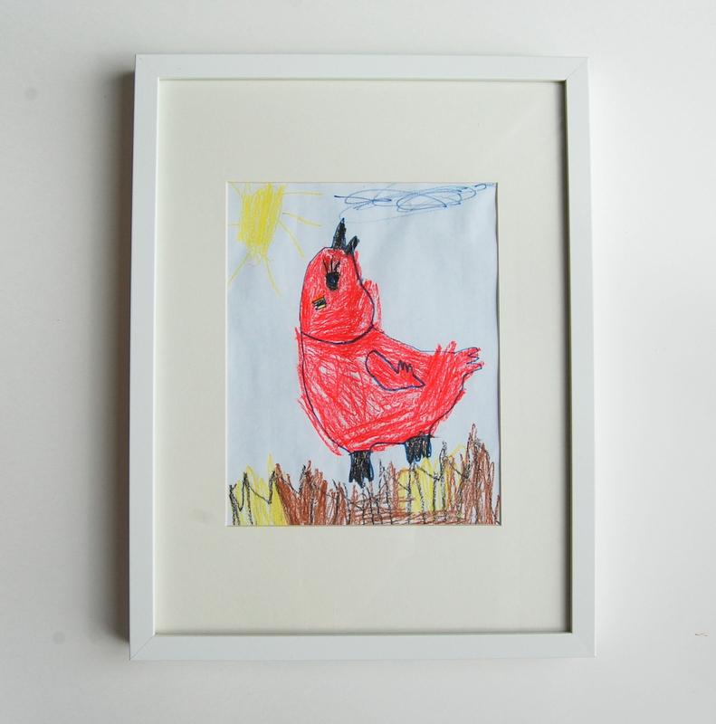 red bird drawing kids