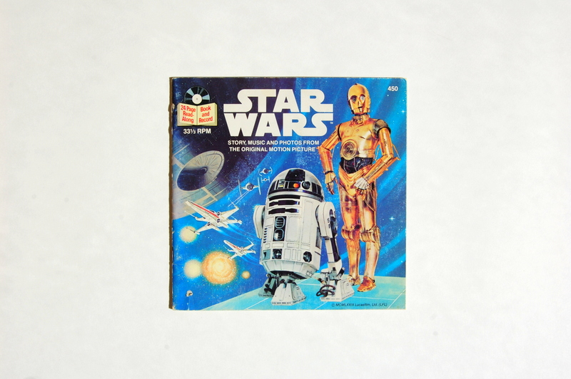vintage star wars book and record (2)
