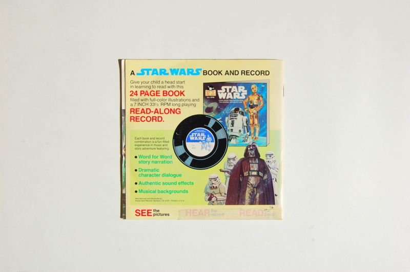 vintage star wars book and record