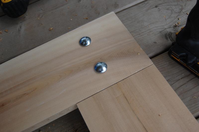 building a rustic mirror (11)