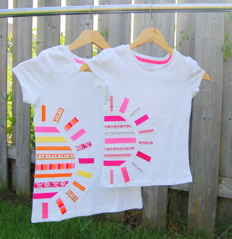 DIY Sunshine tshirt using ribbons