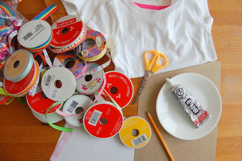 DIY ribbon tshirt (2)