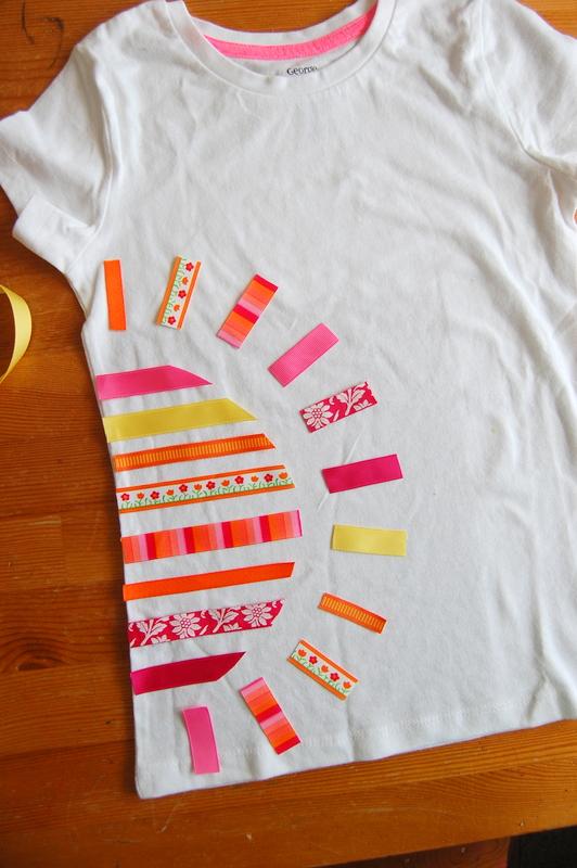 DIY ribbon tshirt (6)