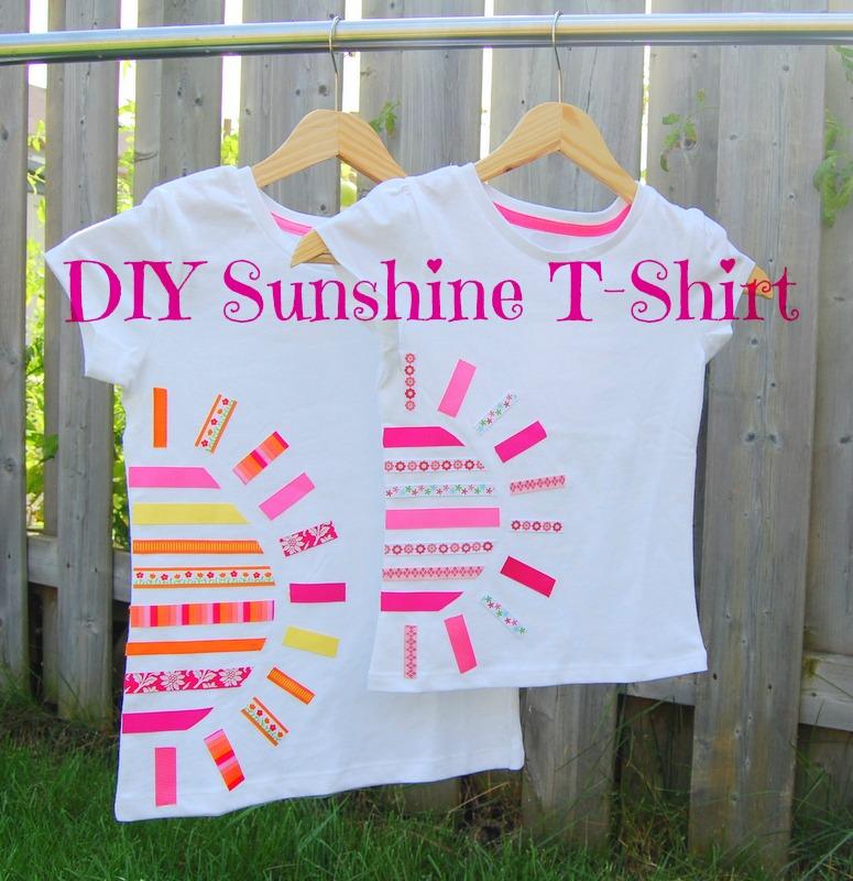 DIY Sunshine tshirt using ribbons 2