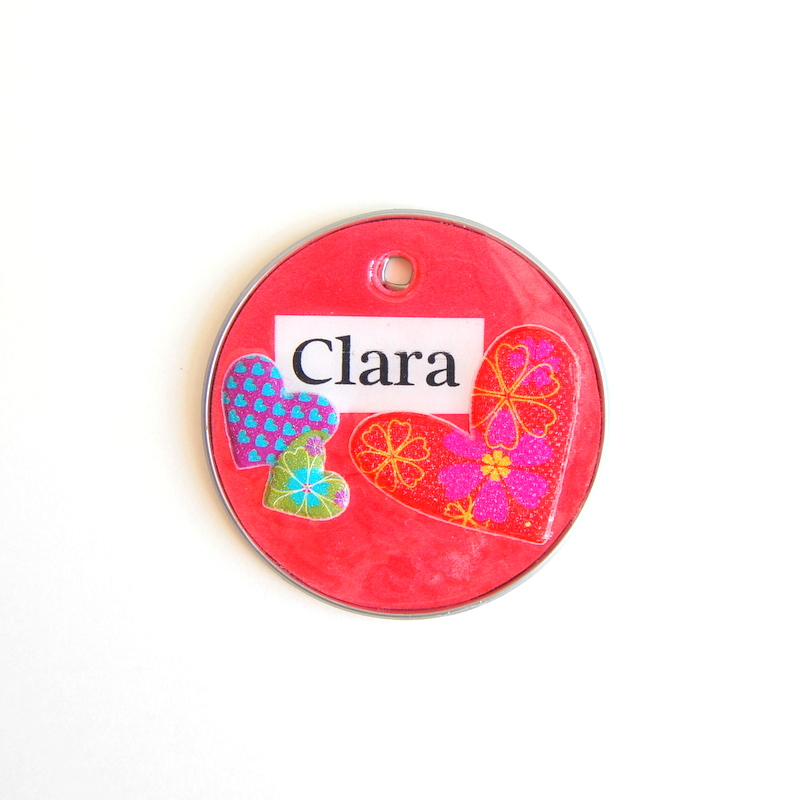 Upcycled backpack tag - northstory.ca
