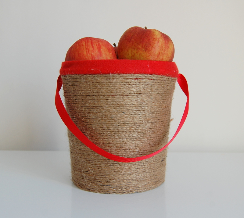 Apple Picking Bucket behind