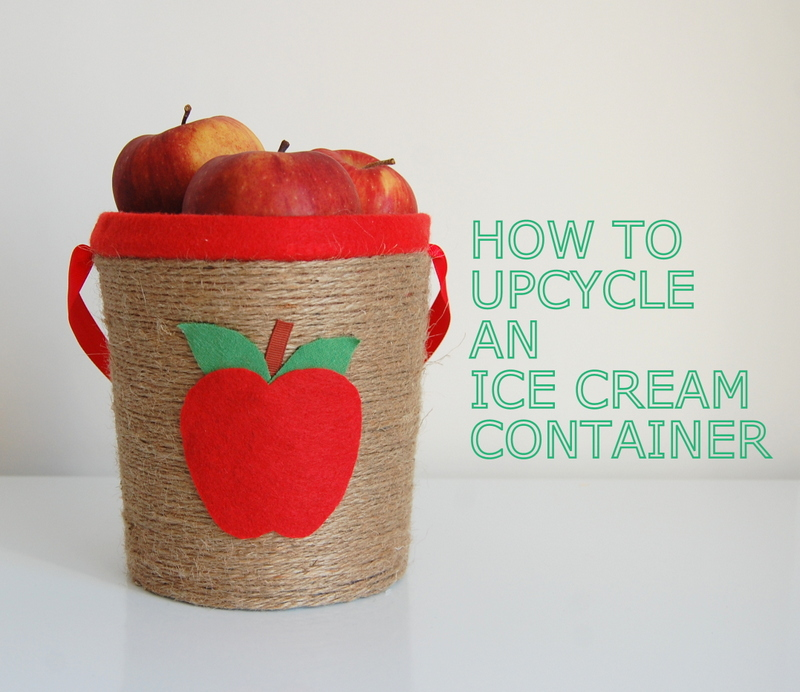 Upcycled Ice Cream Container
