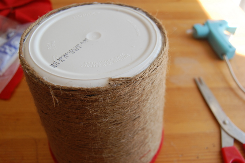 Upcycling an ice cream container