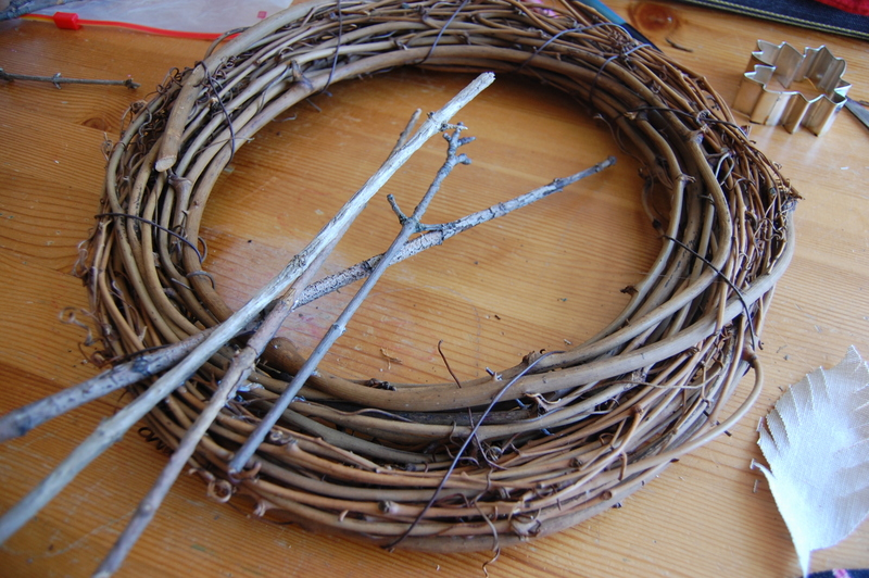 making a Fall wreath