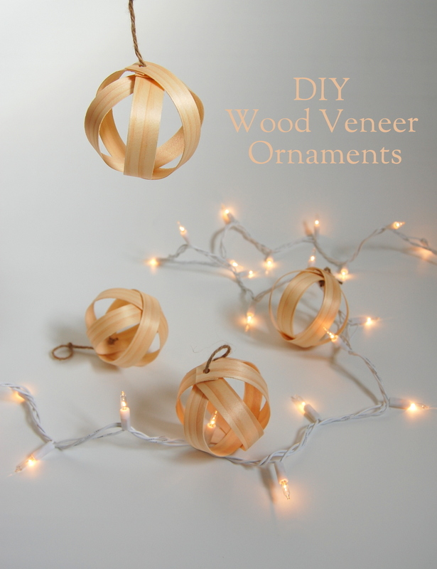 DIY Wood Veener Christmas Ornaments
