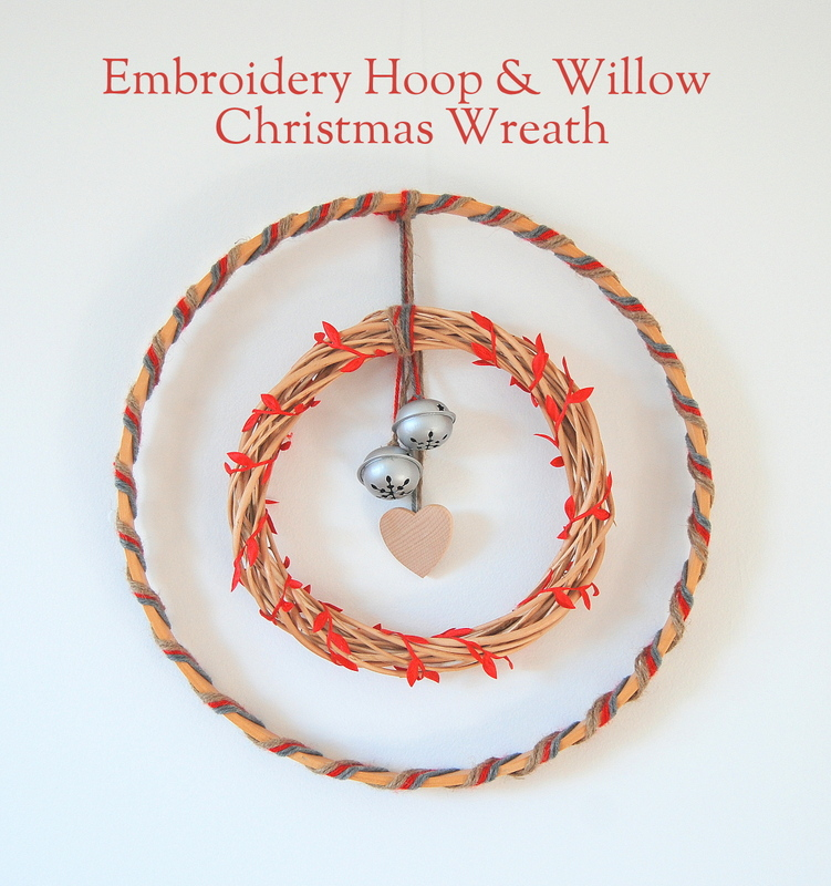 Embroidery Hoop & Willow Christmas Wreath