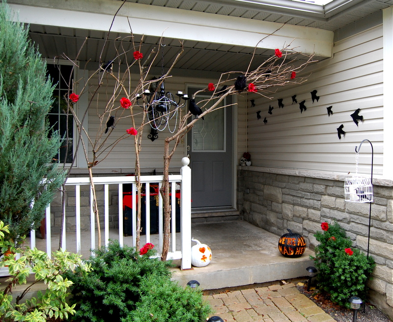 Gothic Halloween Front Porch