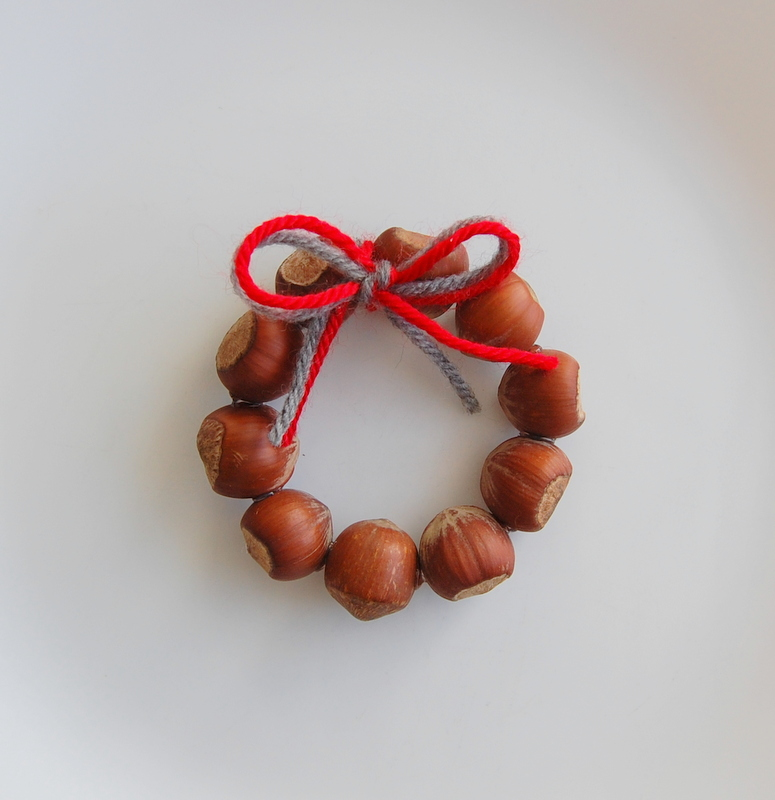 Mini Wreath made of Hazelnuts