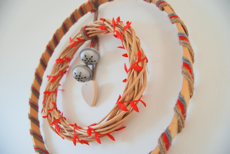 wooden Christmas wreath