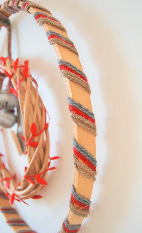 yarn wrapped around wreath