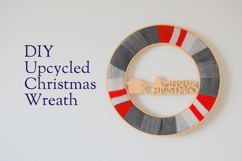 DIY Upcycled Christmas Wreath - northstory