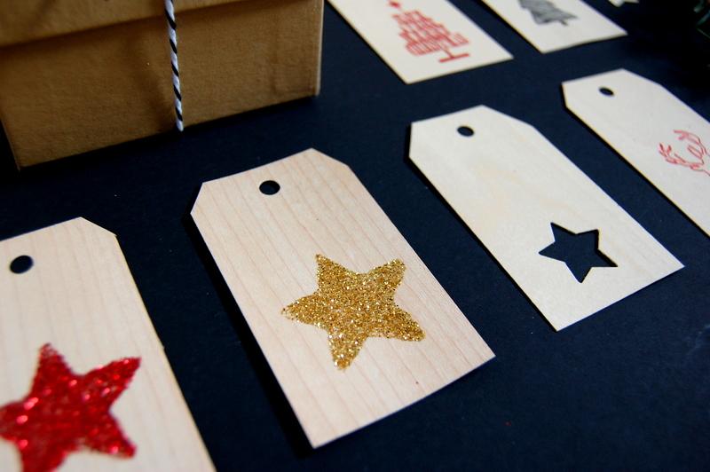 Glitter Wood Veneer Gift Tags - northstory