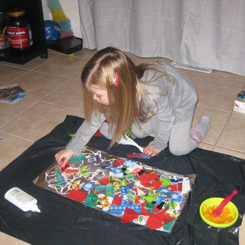 Making Christmas Card collages - northstory.ca