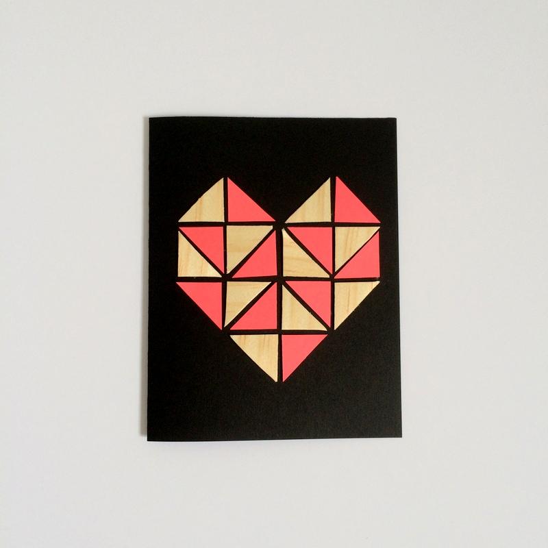 Geometric Heart Step 5 - northstory.ca