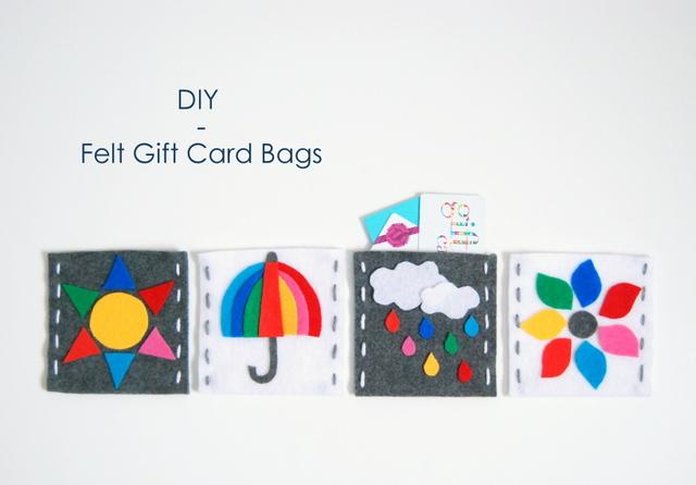 DIY Felt Gift Card Bags - northstory.ca