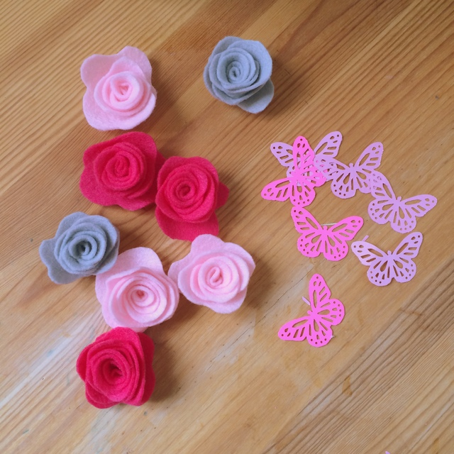 felt roses and butterflies - northstory.ca