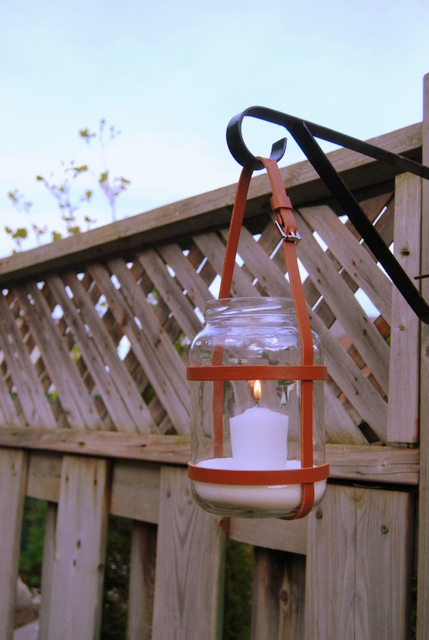 DIY Upcycled Leather Lantern - northstory.ca