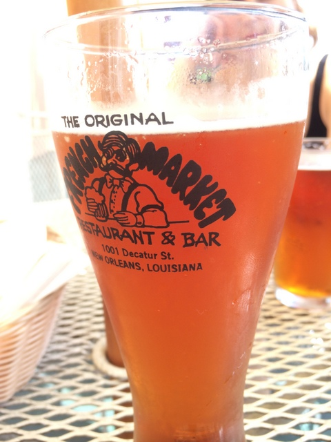 Having a beer at the Original French Market Restaurant & Bar in New Orleans - northstory.ca