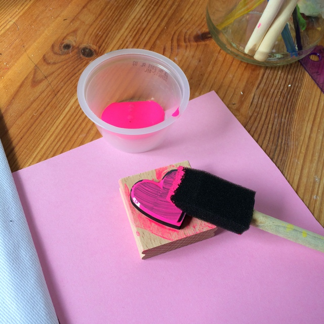 Use a foam brush to paint the back of your stamp - northstory.ca