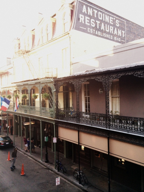 View from the balcony dining at the Royal House in the French Quarter New Orleans - northstory.ca