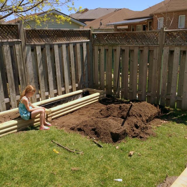 garden beds in progress - northstory.ca