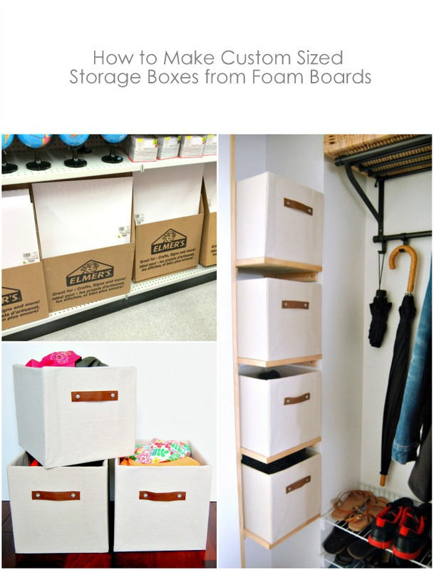 DIY Custom Sized Storage Boxes from foam boards - northstory