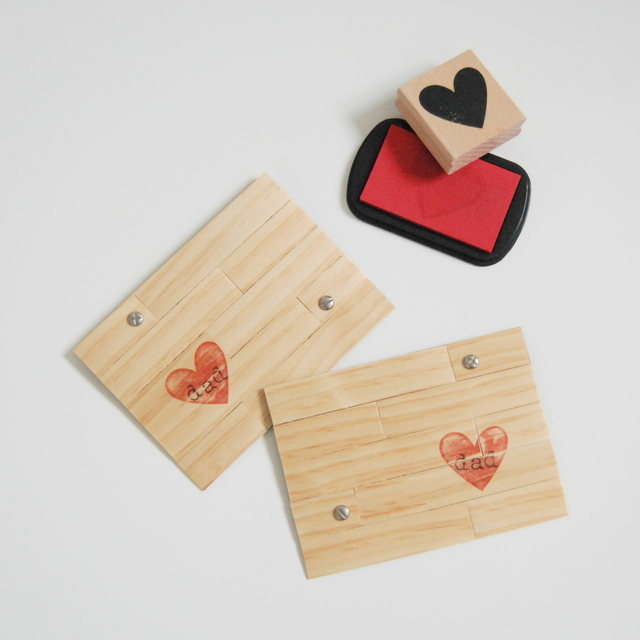 DIY Father's Day Card made from wood veneer - northstory.ca