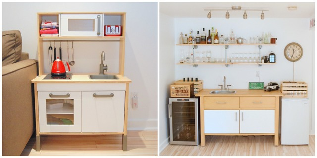 IKEA DUKTIG kitchen & the IKEA VARDE cabinet - northstory.ca