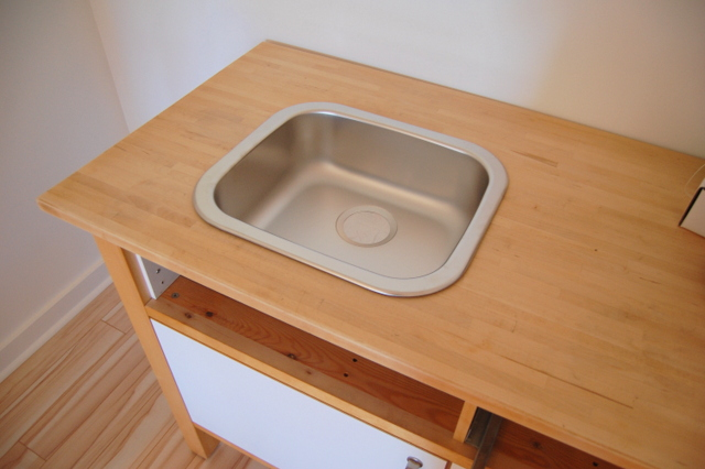 IKEA FYNDIG sink in the IKEA VARDE cabinet - northstory.ca