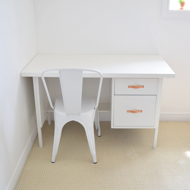 Monarch Cafe Chair from Staples with a made over metal desk - northstory.ca