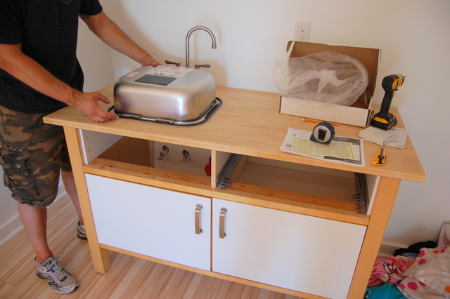 Putting a sink into the IKEA VARDE cabinet - northstory.ca