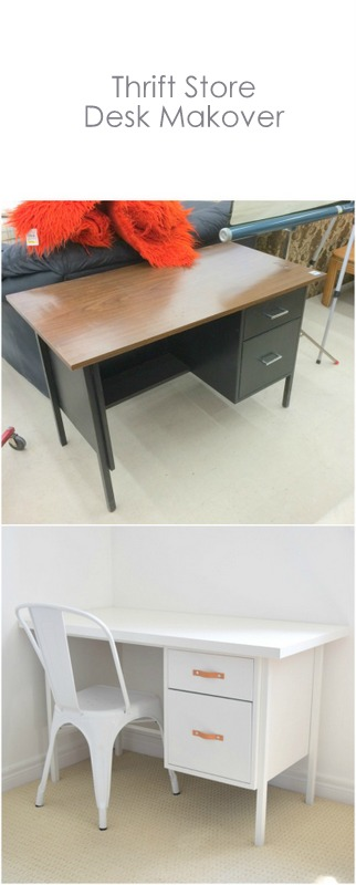 Thrift Store Desk Makeover - northstory