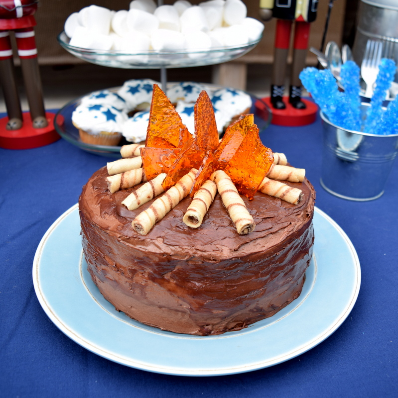 Camping Birthday Party cake - northstory.ca