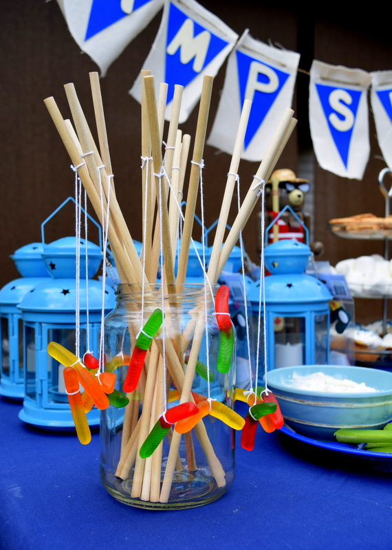 Fishing Rod Gummy Worms for Camping Birthday Party - northstory.ca