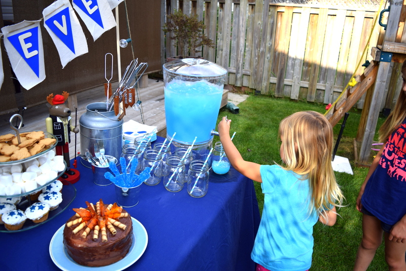 Getting a drink at the camping birthday party - northstory.ca
