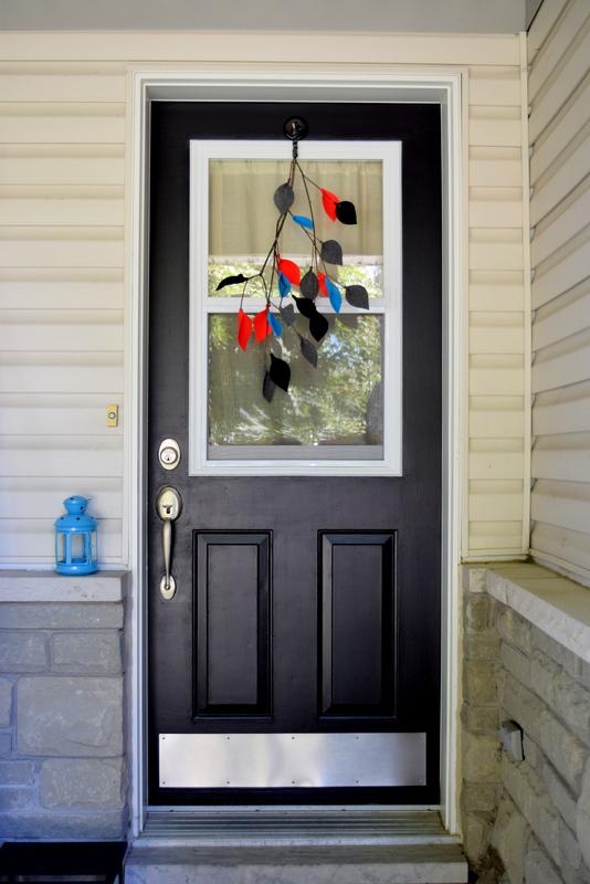 BEHR Carbon Black Paint on front door - northstory.ca