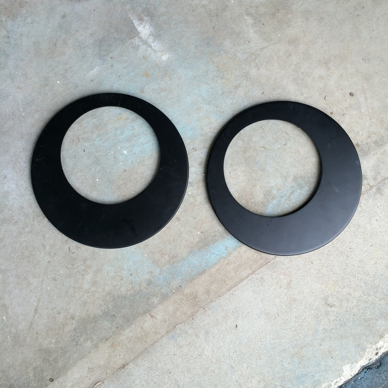 Round mirror frame with mirror removed